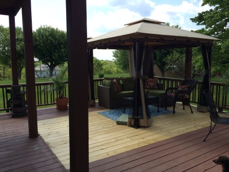 Gazebo with furniture